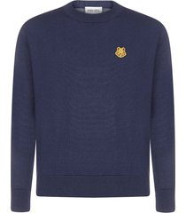 kenzo logo-patch wool sweater