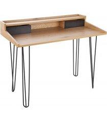 biurko konsola studio fornir dębowy 110cm