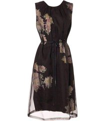delacey organza overlay floral dress