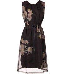 delacey organza overlay floral dress