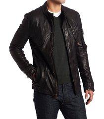 handmade new men black slim fit leather jacket, men's fashion leather jackets,