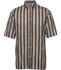 taro nx shirt 10806 overhemd met korte mouwen bruin samsøe samsøe