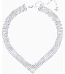 collana fit, bianco, placcatura in palladio