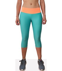 leggings deportivo corto mujer verde aguamarina tykhe antígona