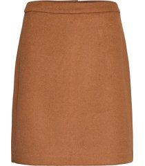 skirts woven knälång kjol brun esprit collection