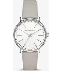 orologio pyper tonalita argento con cinturino in pelle