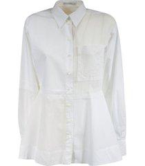j.w. anderson patchwork peplum shirt
