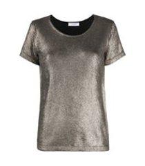 majestic filatures camiseta com efeito metalizado - dourado