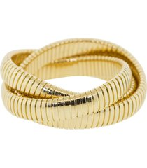 12mm yellow gold three band rolling bracelets