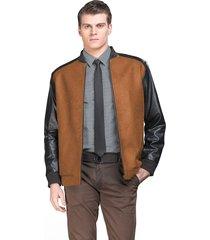 casaco belfast curto marrom