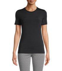 st. john women's stretch-cotton t-shirt - black - size xs