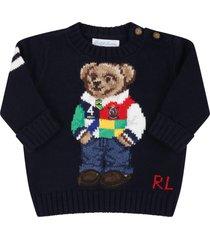 ralph lauren blue sweater for babyboy with bear
