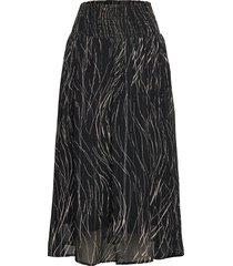 petrinaiw skirt knälång kjol svart inwear