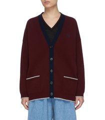 v-neck button down wool cardigan