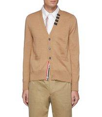 four bar stripe collar cardigan