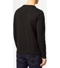 polo ralph lauren men's long sleeved t-shirt - polo black - m