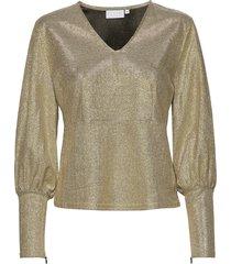 blouse in glitter blouse lange mouwen goud coster copenhagen