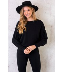 oversized soft trui zwart