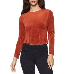 bcbgeneration pleated velour top