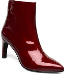 whitney shoes boots ankle boots ankle boot - heel röd vagabond