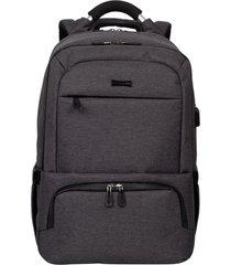 mochila grande 2 compartimentos cabo alumínio sestini techno cinza
