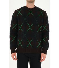 bottega veneta rhombus patterned crewneck sweater