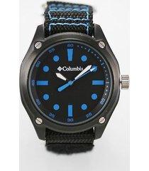 columbia frontier watch ca200-045 mens stainless black nylon 50m battery quartz