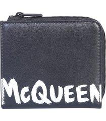 alexander mcqueen designer men's bags, wallet with logo