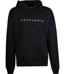 vetements logo print hoodie