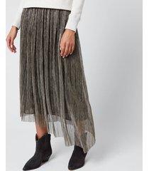 isabel marant étoile women's dolmenae skirt - silver - fr 36/uk 8