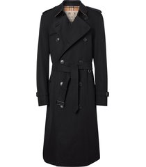 burberry chelsea heritage long trench coat - black