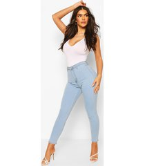 high rise disco jeans, lichtblauw