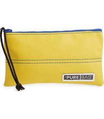 thepurebag antimicrobial wristlet pouch in sun yellow at nordstrom