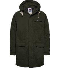 classic padded organic cotton parka jacket parka jacka grön scotch & soda
