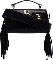 balmain bbuzz baguette shoulder bag - black