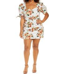 lavish alice floral dot dress, size 20w in white floral spot at nordstrom