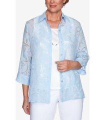 alfred dunner floral 2 for 1 top