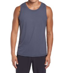 men's zella silver tech tank top