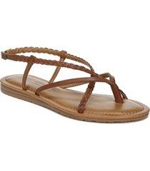 zodiac yovana braided strappy flat sandals women's shoes
