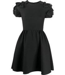 valentino bow-embellished full skirt dress - black