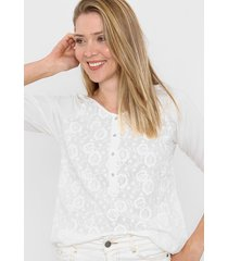 blusa natural ted bodin broderie