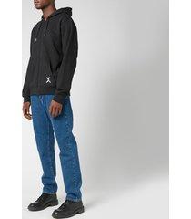kenzo men's sport full zip hooded sweatshirt - black - xxl