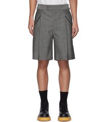 western buckle wool tailor shorts