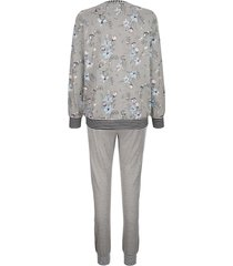 pyjamas blue moon gråmelerad/benvit/marinblå