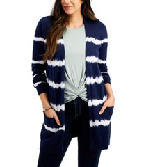 style & co tie-dyed open-front cotton cardigan, created for macy's