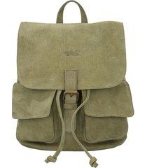 mochila cuero mujer rkf backpack verde rockford