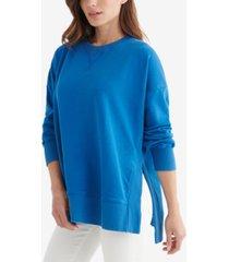 women's fleece crew neck pullover top
