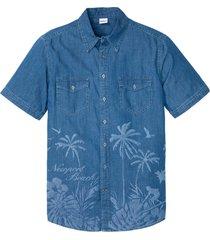 camicia di jeans a maniche corte (blu) - john baner jeanswear