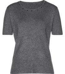 pullover a maniche corte (grigio) - bpc selection