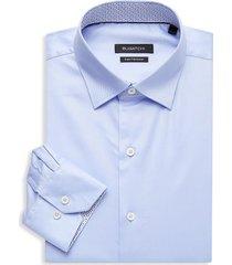 bugatchi men's regular-fit textured dress shirt - sky - size 14.5